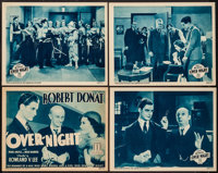 "That Night in London (Mundus, 1934). First US Release Lobby Card Set of 4 (11"" X 14"") AKA Over-Night. Crime..."