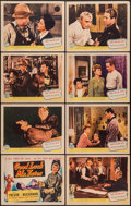 "Movie Posters:War, Good Luck, Mr. Yates (Columbia, 1943). Lobby Card Set of 8 (11"" X14""). War.. ... (Total: 8 Items)"