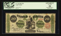 Large Size:Legal Tender Notes, Fr. 124 $20 1862 Legal Tender PCGS Apparent Very Fine 20.. ...