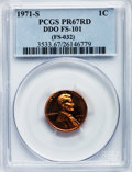 Proof Lincoln Cents, 1971-S 1C Doubled Die Obverse, Type Two PR67 Red PCGS. FS-101(FS-032). PCGS Population (21/2). NGC Census: (12/6). ...