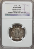 Standing Liberty Quarters, 1921 25C -- Reverse Damage -- NGC Details. XF. NGC Census:(26/462). PCGS Population (50/650). Mintage: 1,916,000. Numismed...