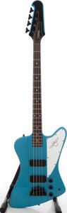 Musical Instruments:Acoustic Guitars, 2007 Epiphone Thunderbird IV Pelham Blue Electric Bass Guitar,Serial # U07110058. ...