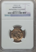 Buffalo Nickels, 1925-S 5C -- Improperly Cleaned -- NGC Details. AU. NGC Census:(15/511). PCGS Population (22/689). Mintage: 6,256,000. Num...