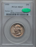Washington Quarters, 1955 25C MS67 PCGS. CAC....