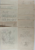 Books:Original Art, Garth Williams. Twenty-One Original Pencil Sketches for Over andOver, Almost All Initialed by Him. [N.p., n.d.]...