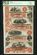 Obsoletes By State:Minnesota, St. Paul, MN- Treasurer of Ramsey County $1-$2-$3-$5 HewittD1-2-D2-2-D3-2-D5-2 Uncut Sheet. ...