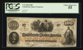 Confederate Notes:1862 Issues, Houston Reissued T41 $100 1862. PF-5 Cr. 315. ...