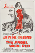 "Movie Posters:War, The Angel Wore Red (MGM, 1960). One Sheet (27"" X 41""), Lobby CardSet of 8 (11"" X 14""), & Uncut Pressbook (12"" X 17""). War....(Total: 10 Items)"