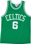 Basketball Collectibles:Uniforms, Bill Russell Signed Boston Celtics Jersey....