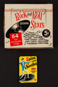 "Non-Sport Cards:Unopened Packs/Display Boxes, 1960 Fleer ""Spins and Needles"" Pack and Nu-Card ""Rock and RollStars"" Box Pair (2). ..."