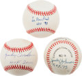 Baseball Collectibles:Balls, Lee Mac Phail, Judy Johnson and Sparky Anderson Single Signed Baseballs With Hall of Fame Inscription. ...
