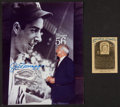 Baseball Collectibles:Photos, Joe DiMaggio Signed Photograph and Mickey Mantle Signed Gold Hallof Fame Card....