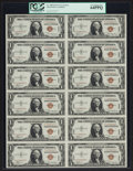 Small Size:World War II Emergency Notes, Fr. 2300 $1 1935A Hawaii Silver Certificate Uncut Sheet. PCGS VeryChoice New 64PPQ.. ...