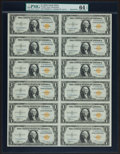 Small Size:World War II Emergency Notes, Fr. 2306 $1 1935A North Africa Silver Certificate Uncut Sheet. PMGChoice Uncirculated 64 EPQ.. ...