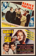 "Movie Posters:Crime, Babies for Sale (Columbia, 1940). Trimmed Title Lobby Card (10.75"" X 13.75"") & Lobby Card (11"" X 14""). Crime.. ... (Total: 2 Items)"