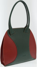 Luxury Accessories:Bags, Loewe Green and Red Leather Shoulder Bag. ...