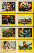 "Movie Posters:War, Attack! (United Artists, 1956). Lobby Card Set of 8 (11"" X 14"") andUncut Pressbook (12 Pages, 14"" X 18""). War.. ... (Total: 9 Items)"