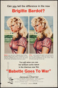 "Movie Posters:Comedy, Babette Goes to War (Columbia, 1960). One Sheet (27"" X 41""), Title Card & Lobby Cards (4) (11"" X 14""), and Uncut Pressbook ... (Total: 7 Items)"