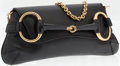 Luxury Accessories:Bags, Gucci Black Leather Horsebit Clutch with Chain Strap. ...