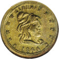 Civil War Patriotics: , 1864 Civil War Token, Fuld 46/339B, R.7, MS64 NGC. A capped Libertyhead design faces right on the obverse. It is surrounded...