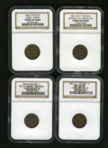Civil War Patriotics: , 1861-1865 Group Lot of 4 NGC-Certified Patriotic Civil War Tokens.The lot consists of: an Our Union, Fuld-127/201a, XF45 ... (Total:4 tokens)