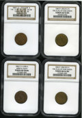 Civil War Patriotics: , 1863 Group Lot of Four NGC-Certified Patriotic Civil War Tokens.The lot consists of: a Fuld-203/412b, AU55 Brown NGC; Ful...(Total: 4 tokens)