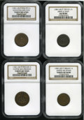 Civil War Patriotics: , 1861-1865 Group Lot of Four NGC-Certified Patriotic Civil WarTokens. The lot consists of: an Army & Navy, Fuld-257/311a, ...(Total: 4 tokens)