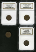 Civil War Patriotics: , Ilinois Patriotic Civil War Token Group Lot of Four Pieces. AFuld-IL-150AK-2a, R.4, MS62 Brown NGC; Fuld-IL-150AX-1a, R....(Total: 4 tokens)