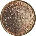 Civil War Merchants: , (1861-65) Oppenheimer & Metzger, Fuld-IL-150AQ-1a, R.4,Illinois, MS65 NGC. Distributors of Jewelery and watch materials.Lu...