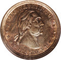 Civil War Merchants: , 1864 Sanitary Commission, Fuld-MA-530A-1a, R.5, Nantucket, MA, MS62NGC. This lustrous token features a bust of Washington f...