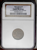 Civil War Merchants: , 1863 H. Eastman Dry Goods, Fuld-MI-700B-1a, R.3, Niles, MI, MS64NGC.A dealer in dry goods, clothing, boots & shoes. Brown w...