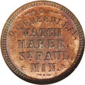 Civil War Merchants: , (1861-65) D.C. Greenleaf/Watchmaker, Fuld-MN-760A-1a, R.8, St.Paul, MN, MS62 Red and Brown NGC. This R.8 token is one of si...