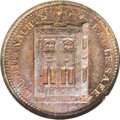 Civil War Merchants: , (1861-65) G.M. Mittnacht's, Fuld-NY-630BA-2a, R.3, New York, NY,MS64 Brown NGC. This R.3 token exhibits a blue hue, with mu...