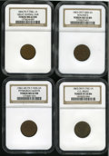 Civil War Merchants: , Patriotic Civil War NGC-Certified Lot of Four Tokens. Consists of:1863 Fuld-OH-200I-2a, AU55 NGC; 1863 Fuld-OH-175C-1a, V... (Total:4 tokens)