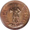 Civil War Merchants: , 1863 V. Blatz Lagerbeer, Fuld-WI-510E-1a, R.2, Wisconsin, MS65 NGC.This issue for Blatz beer shows a figure of Gambrinous o...