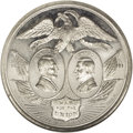 Liberia: , 1864 Lincoln-Johnson Campaign Medal MS62 Prooflike NGC.D-AL-1864-1. White metal. 42mm. Dies by W.H. Key of Philadelphia.Th...