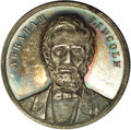 """Lincoln: , """"1861"""" Lincoln Inauguration Address Medal MS60 Uncertified. Plainedge. 37mm. THE CENTRAL IDEA OF SUCCESSION / IS / THE ESSE..."""