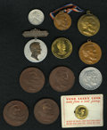 Lincoln: , An Uncertified 12 piece lot of Lincoln ephemera. The lot includes:a gold plated 1930 pop-out Lincoln cent with pin back and...(Total: 12 items)