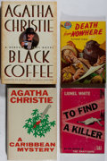 Books:Mystery & Detective Fiction, [British Mysteries]. Lot of Four British Mysteries. [VariousPublishers, Dates, Editions]. Generally good.... (Total: 4 Items)