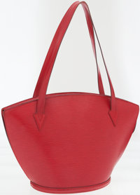 Louis Vuitton Red Epi Leather St. Jacques GM Tote Bag