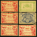 Military Payment Certificates:Series 461, Ninetieth Division- Berncastle, Germany 10 (2), 20 (4), 50, 100 Teeohs May 1 -2, 1919.. ... (Total: 8 notes)