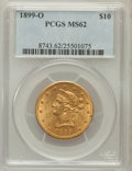 Liberty Eagles, 1899-O $10 MS62 PCGS. Variety 1....
