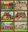 "Non-Sport Cards:Lots, 1911 T69 Helmar ""Historic Homes"" Collection (19). ..."