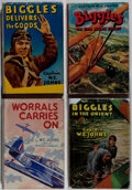 "Books:Fiction, Captain W. E. Johns. Lot of Four ""Biggles"" Books. [Variouspublishers, dates, editions]. Generally good. . ... (Total: 4Items)"