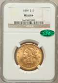 Liberty Eagles, 1899 $10 MS64+ NGC. CAC. NGC Census: (1283/226). PCGS Population(342/37). Mintage: 1,262,305. Numismedia Wsl. Price for pr...
