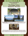 Movie/TV Memorabilia:Tickets, LAKE TAHOE HERE I COME! . The Ridge Tahoe, Stateline Nevada - 7Nights for 4 Guests. Benefitting Union County College...