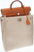 Luxury Accessories:Bags, Hermes Vache Naturale & Sand Toile Herbag PM Backpack Bag. ...