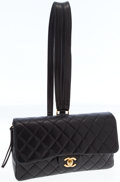 Luxury Accessories:Bags, Chanel Black Lambskin Leather Flap Backpack with Gold Hardware. ...