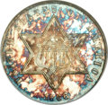 Three Cent Silver, 1866 3CS MS66 NGC....