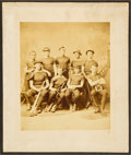 Baseball Collectibles:Photos, 1881 Princeton Baseball Team Cabinet Photograph....